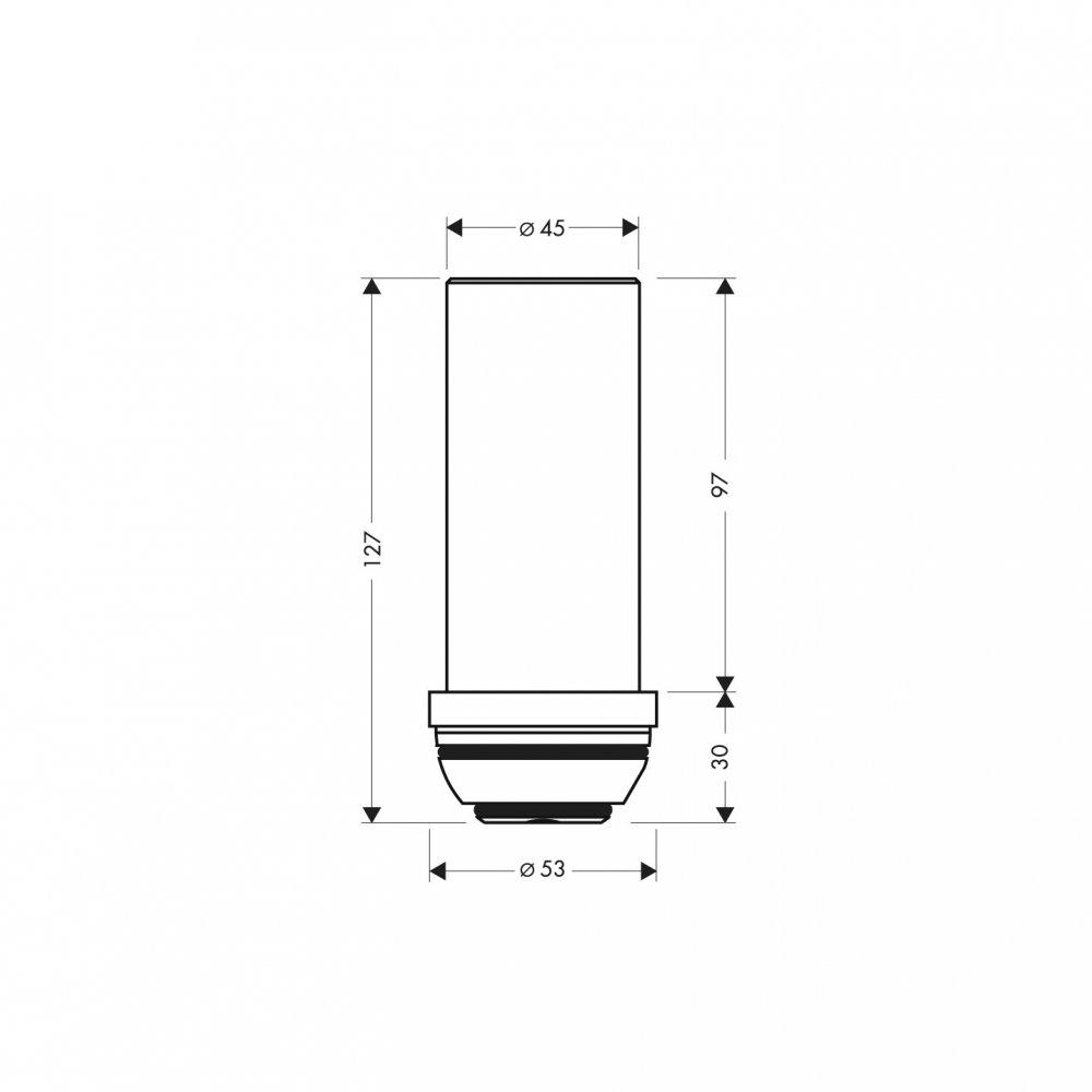 Удлинение потолочного подсоединения AXOR ShowerSolutions 230 мм хром  97686000